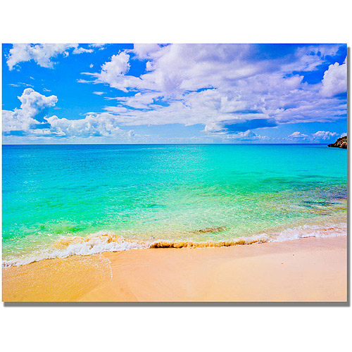 "Trademark Art ""Maho Beach"" Canvas Wall Art by Preston"
