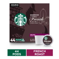 Starbucks Dark Roast K-Cup Coffee Pods  French Roast for Keurig Brewers  1 box (44 pods)