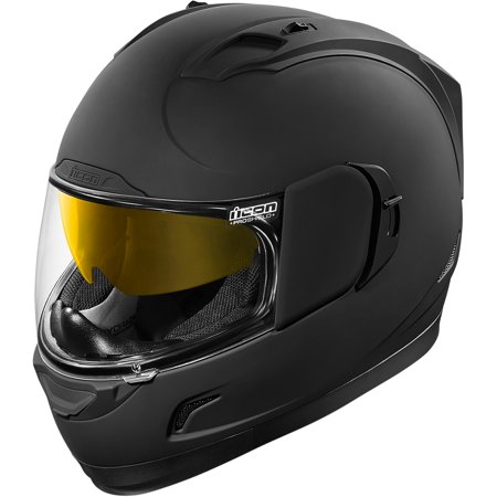 ICON Alliance™ GT Helmet Full Face (Solid Black Rubatone, 2X-Large)