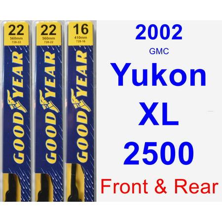 Gmc Yukon Wiper Motor - 2002 GMC Yukon XL 2500 Wiper Blade Set/Kit (Front & Rear) (3 Blades) - Premium