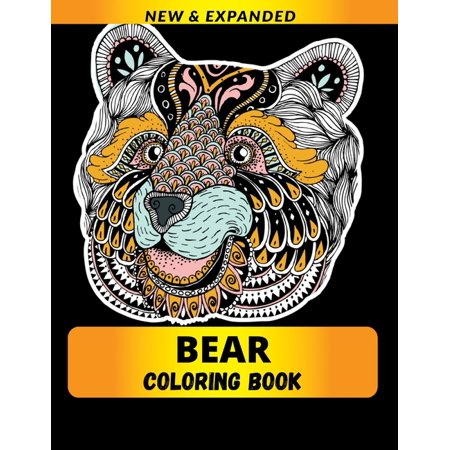 Bear Coloring Book : An Adult Coloring Book with Fun, Easy, and Relaxing Coloring Pages (Paperback)