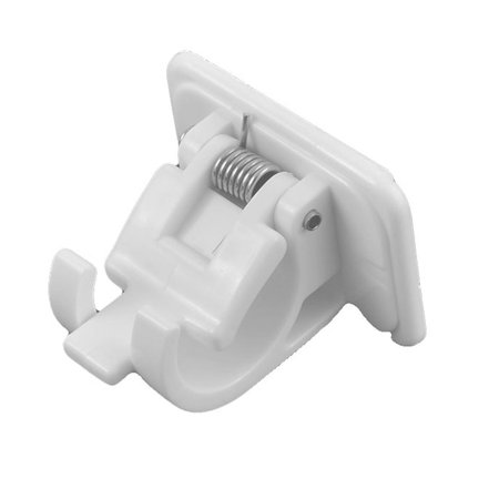 Uxcell Kitchen Bathroom 20mm Pipe Dia Bath Curtain Self Adhesive Hook Hanger Clamp (Pipe Hook)