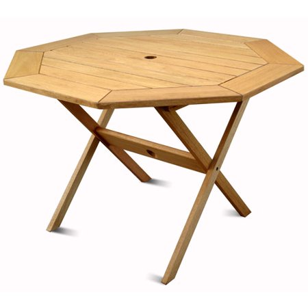 Milano FSC Eucalyptus Wood Outdoor Octagonal Table - Walmart.com