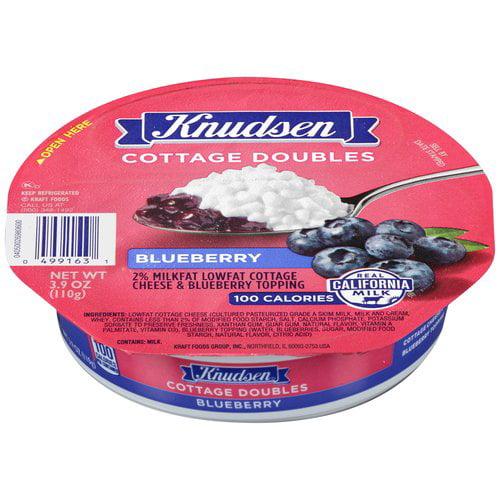 Knudsen Cottage Doubles Blueberry Lowfat Cottage Cheese, 3.9 oz