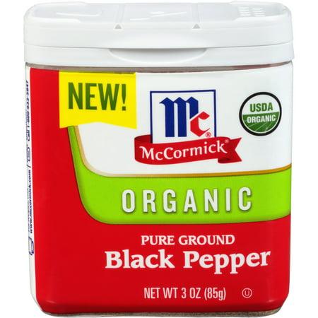 (2 Pack) McCormick Ground Organic Black Pepper, 3 oz