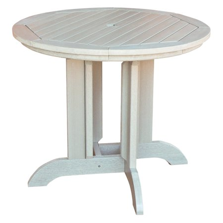 highwood recycled plastic 36 in round patio dining table