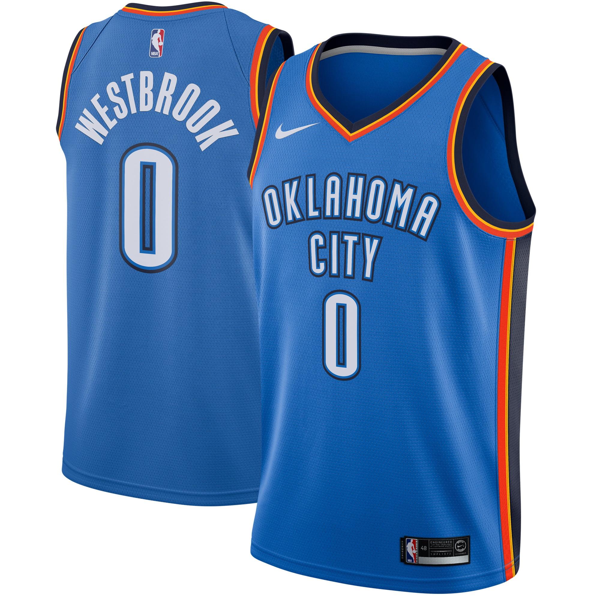 Russell Westbrook Oklahoma City Thunder Nike Swingman Jersey Blue - Icon Edition - Walmart.com