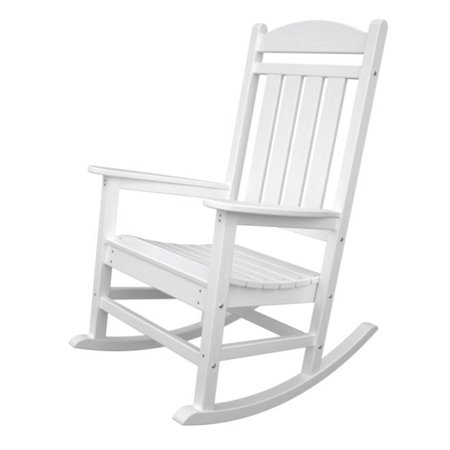 recycled earth friendly outdoor patio executive rocking chair white. Black Bedroom Furniture Sets. Home Design Ideas