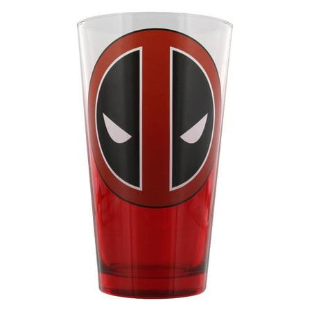 Bottoms Up Logo Pint Glass - Pint Glass - Marvel - Deadpool - Logo Red/Clear 16oz New gls-me-ddpl