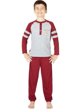 Harry Potter Boys Gryffindor House Athletic Varsity Jogger Pajama Set