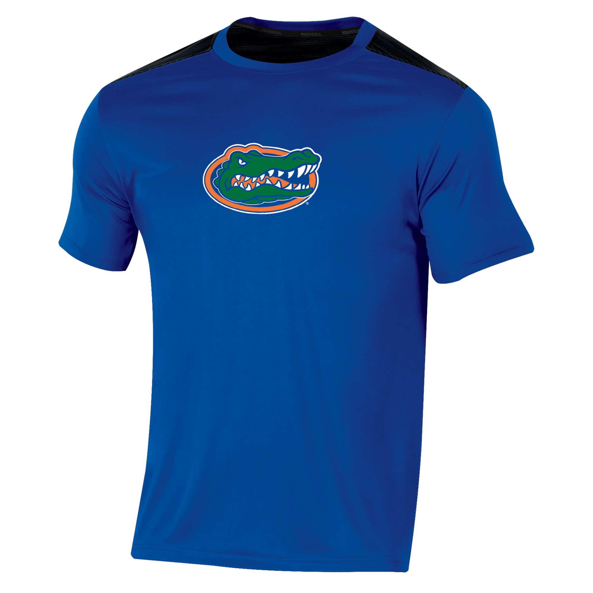 Men's Russell Royal Florida Gators Synthetic Colorblock Crew T-Shirt