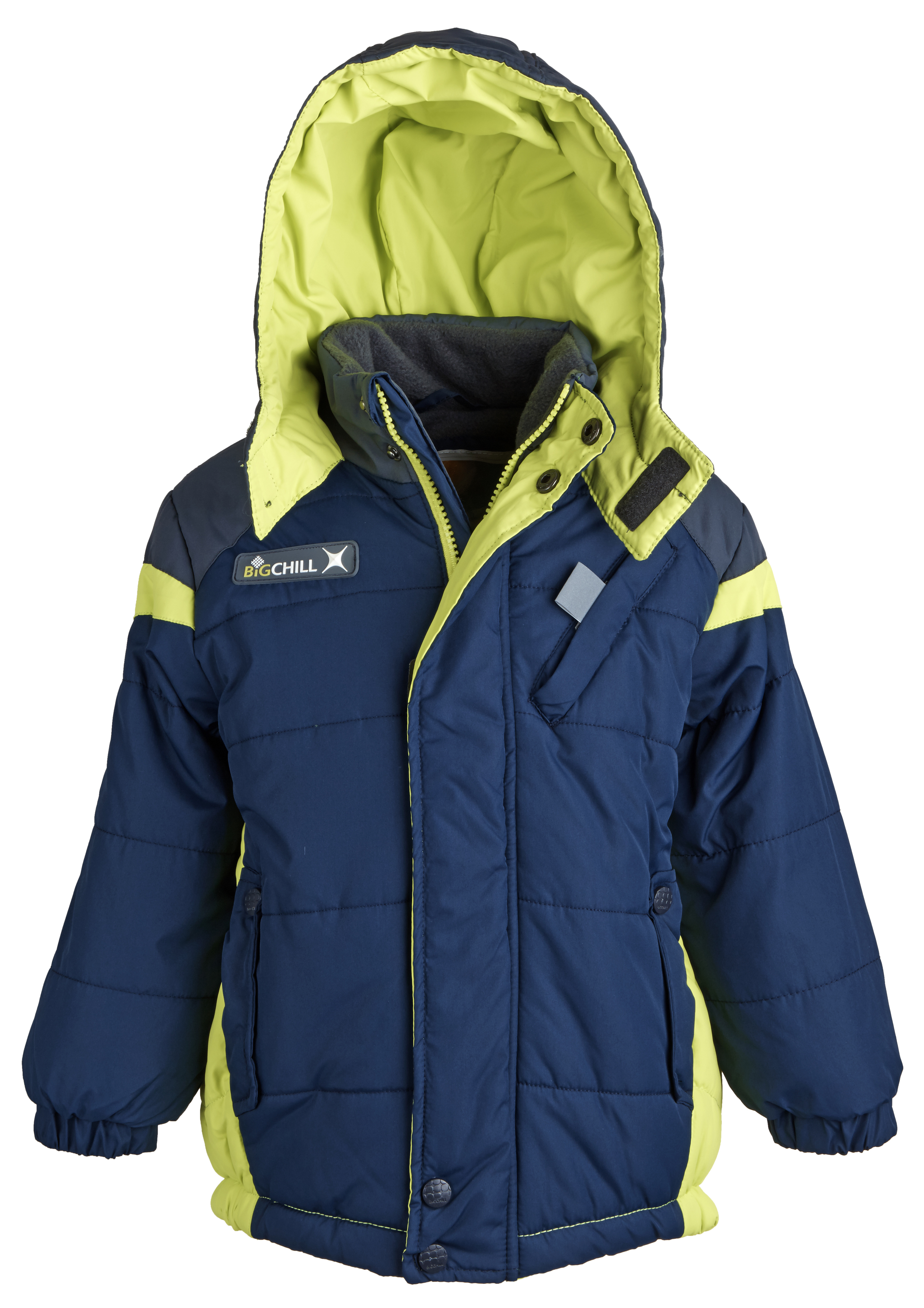 Big Chill Little Boys Down Alternative Fleece Lined Winter Puffer Bubble Coat