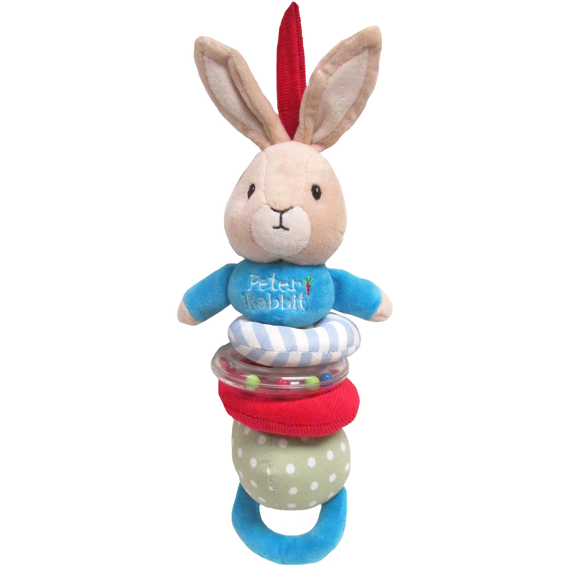 Flopsy Bunny Soft Bean Toy with Jingle Rattle Peter Rabbit Nursery Collection