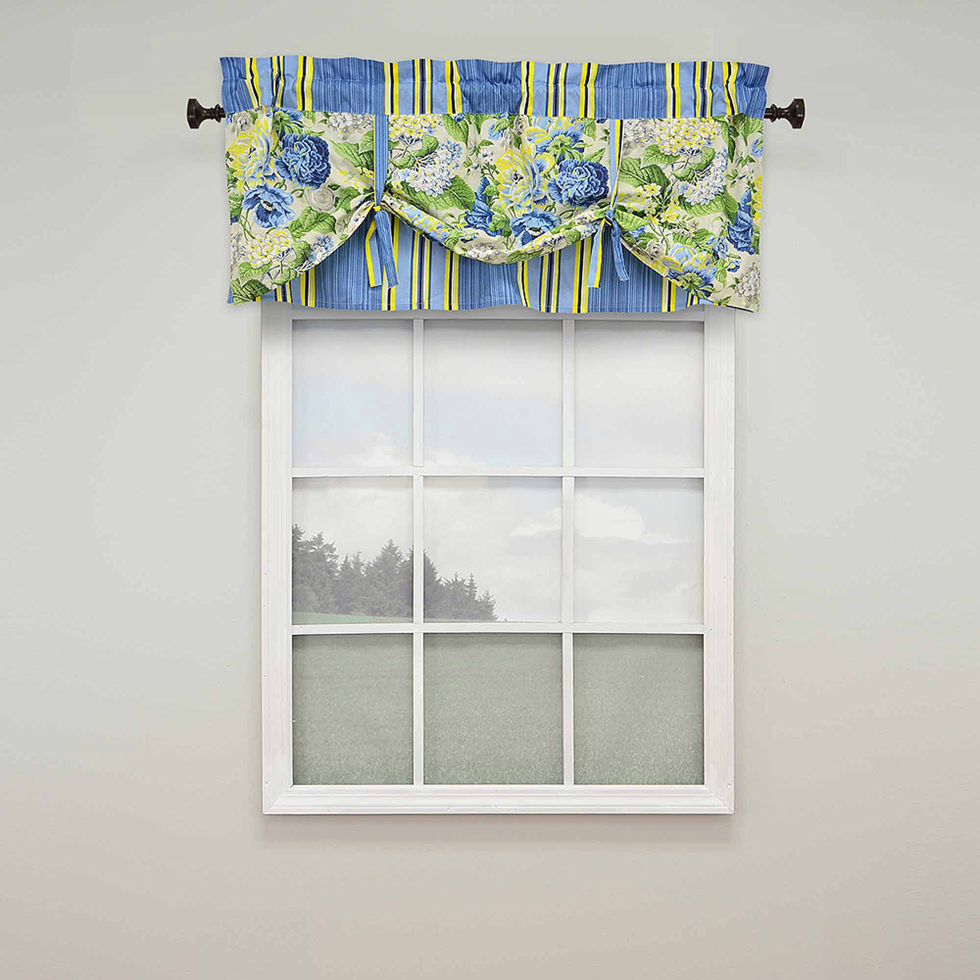 floral flourish lined window valance walmart