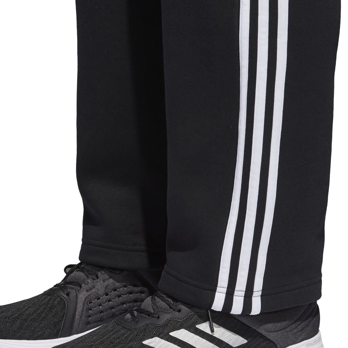 BK7427} Adidas Men's Essentials 3 Stripe Regular Fit Fleece