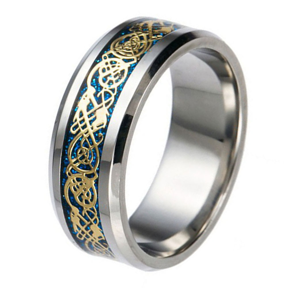 Ring Men Ring Luxury Stainless Steel #7-#12 Ornaments ...
