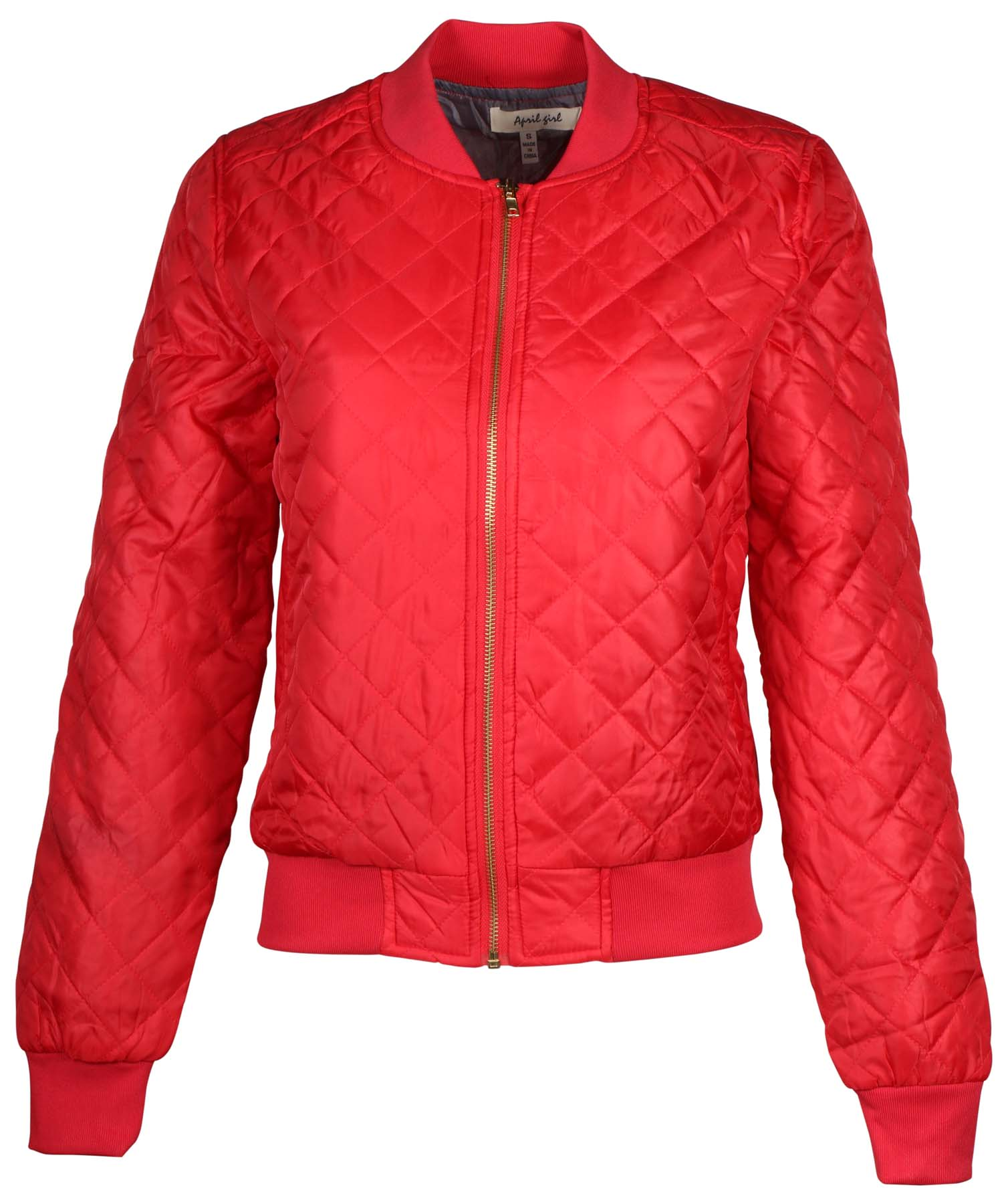 AG Womens Quilted Bomber Jacket by 9 Crowns Essentials by 9 Crowns