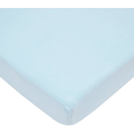 American Baby Company 100% Cotton Percale Fitted Crib Sheet for Standard Crib and Toddler Mattresses, Baby Boy, Blue