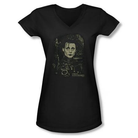 Fantasy Movie Shirt (Edward Scissorhands Fantasy Drama Movie Edward Johnny Depp Jrs V-Neck T-Shirt )