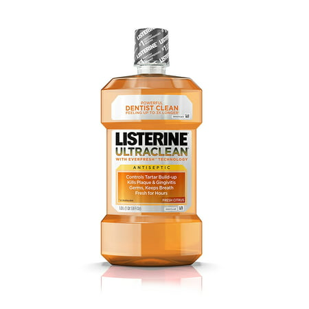 Ultraclean Oral Care Antiseptic Mouthwash with Everfresh Technology to Help Fight Bad Breath, Gingivitis, Plaque and Tartar, Fresh Citrus, 1 l,.., By (Best Mouthwash For Gingivitis And Bad Breath)