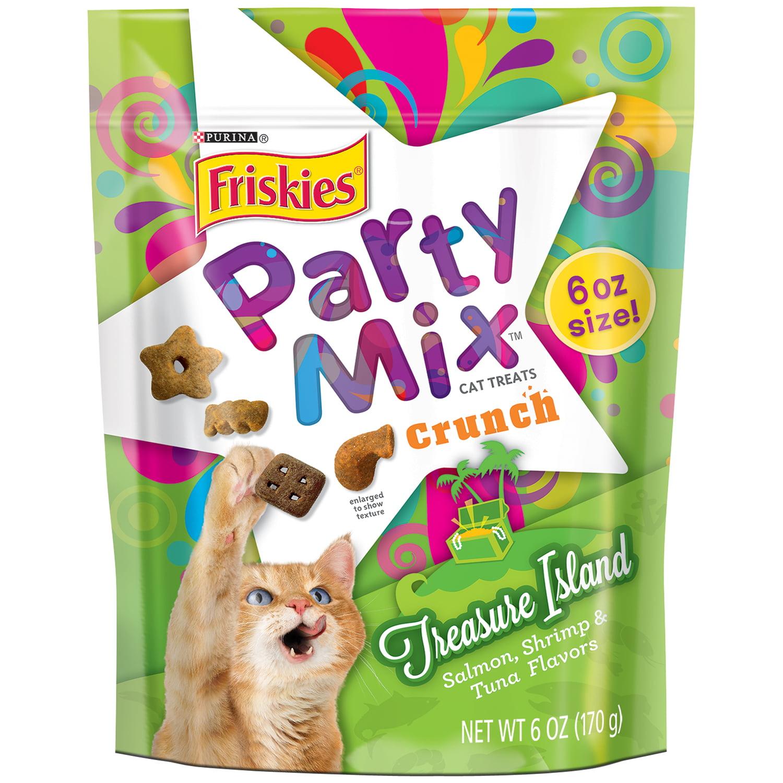 Purina Friskies Party Mix Crunch Treasure Island Cat Treats 6 oz. Pouch