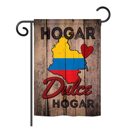 Ornament Collection - Country Colombia Hogar Dulce Hogar Flags of the World - Everyday Nationality Impressions Decorative Vertical Garden Flag 13