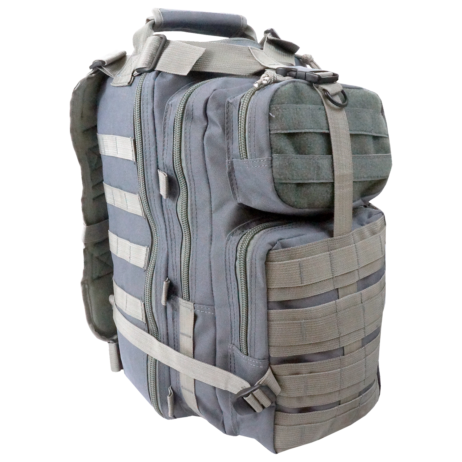 Every Day Carry Tactical Assault Bag EDC Day Pack Backpack w/Molle Webbing Gray