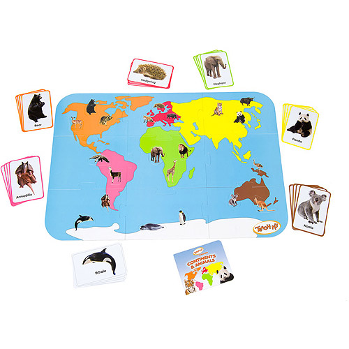 Teach My Toddler Continents and Animals