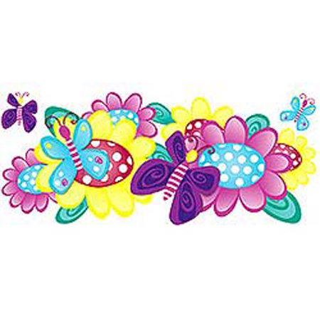 Jelly Bugs Border - Butterfly Bugs Gardens Animal Wall Paper Accent