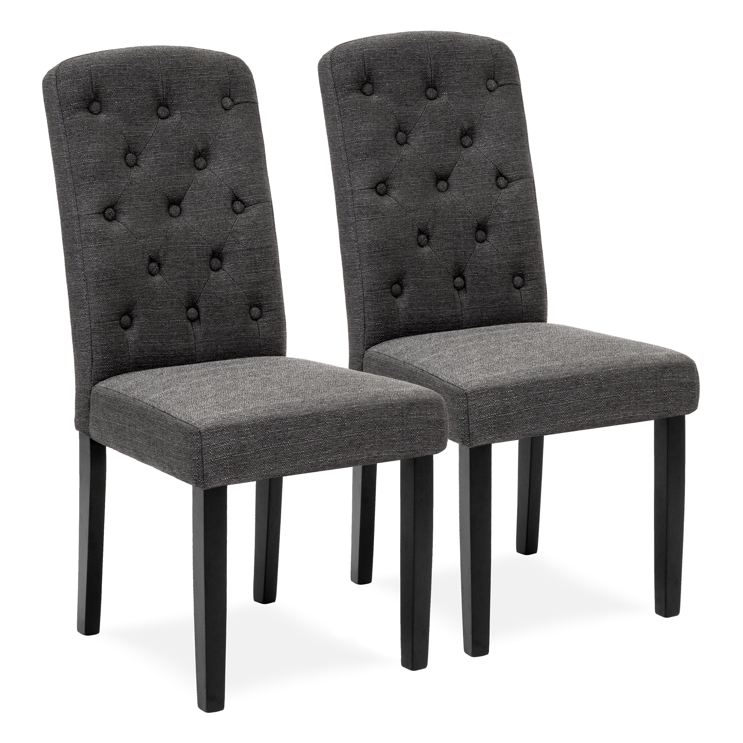 Superior Best Choice Products Set Of 2 Tufted Fabric Parsons Dining Chairs Home  Furniture For Dining And