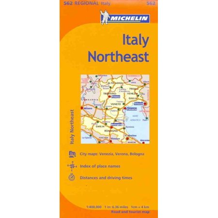 Michelin italy: northeast map 562 - folded map: 9782067175334