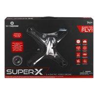 Sky Drones Super-x 2.4GHZ RC Video Drone, 1.0 CT