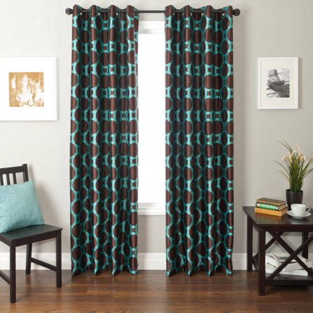 Circle Window - Softline Catara Circle Grommets Top Curtain Panel