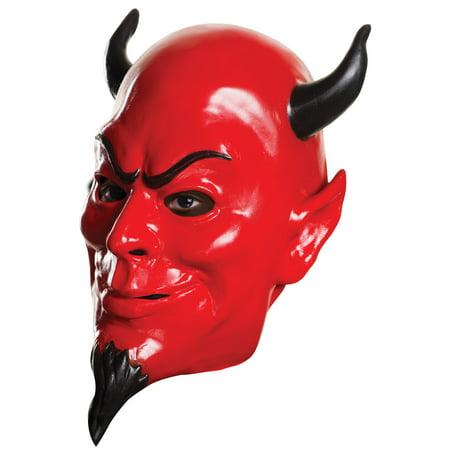 Red Devil Adult Mask - Murder Victim Halloween Costume