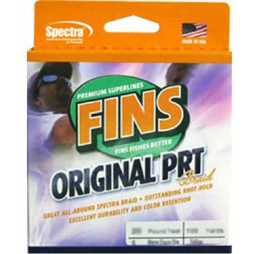 "Click here to buy Fins SpectraOriginal PRT Yellow 1500 yds 30 lb Test 0.011"" Diameter Fishing Line by Generic."