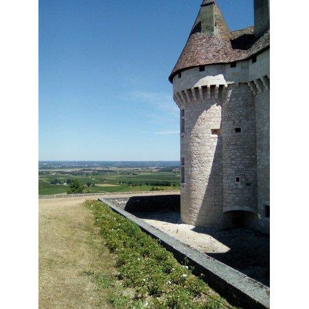 LAMINATED POSTER Castle Monbazillac Wine Poster Print 24 x 36 (Castle Poster Print)