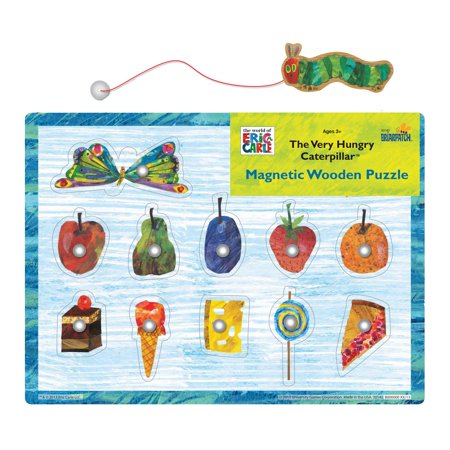 Caterpillar Puzzle (The Very Hungry Caterpillar Magnetic Wooden Puzzle, 11 Pieces)