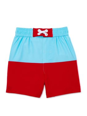 Wonder Nation Boys Color-Changing Swim Trunks, Sizes Newborn-18M, UPF 50+