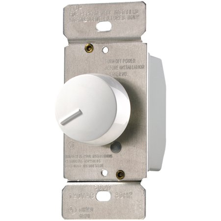 Cooper Wiring Devices RI061-W Dimmer Rotary SP 600W 120V Non-Pset WH