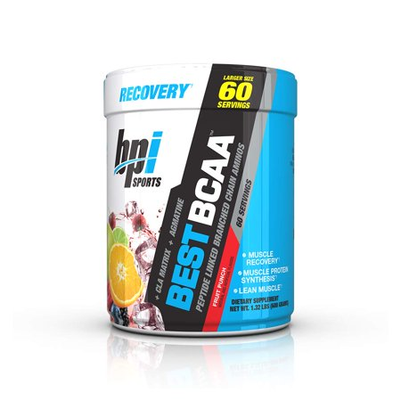 Sports Best BCAA - BCAA Powder - Branched Chain Amino Acids - Muscle Recovery - Muscle Protein Synthesis - Lean Muscle - Improved Performance – Hydration – Fruit Punch - 60 Servings - 1.32 Pound