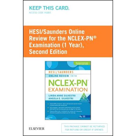 HESI / Saunders Online Review for the NCLEX-PN Examination (1 Year) Access Code