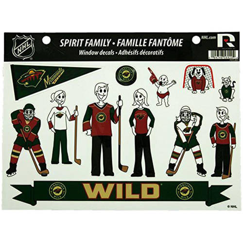 NHL Minnesota Wild Family Decals Sheet