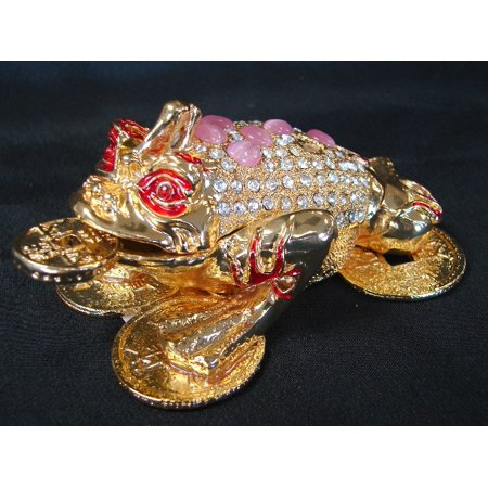Bejeweled Metal Three-Legged Toad - image 1 de 1