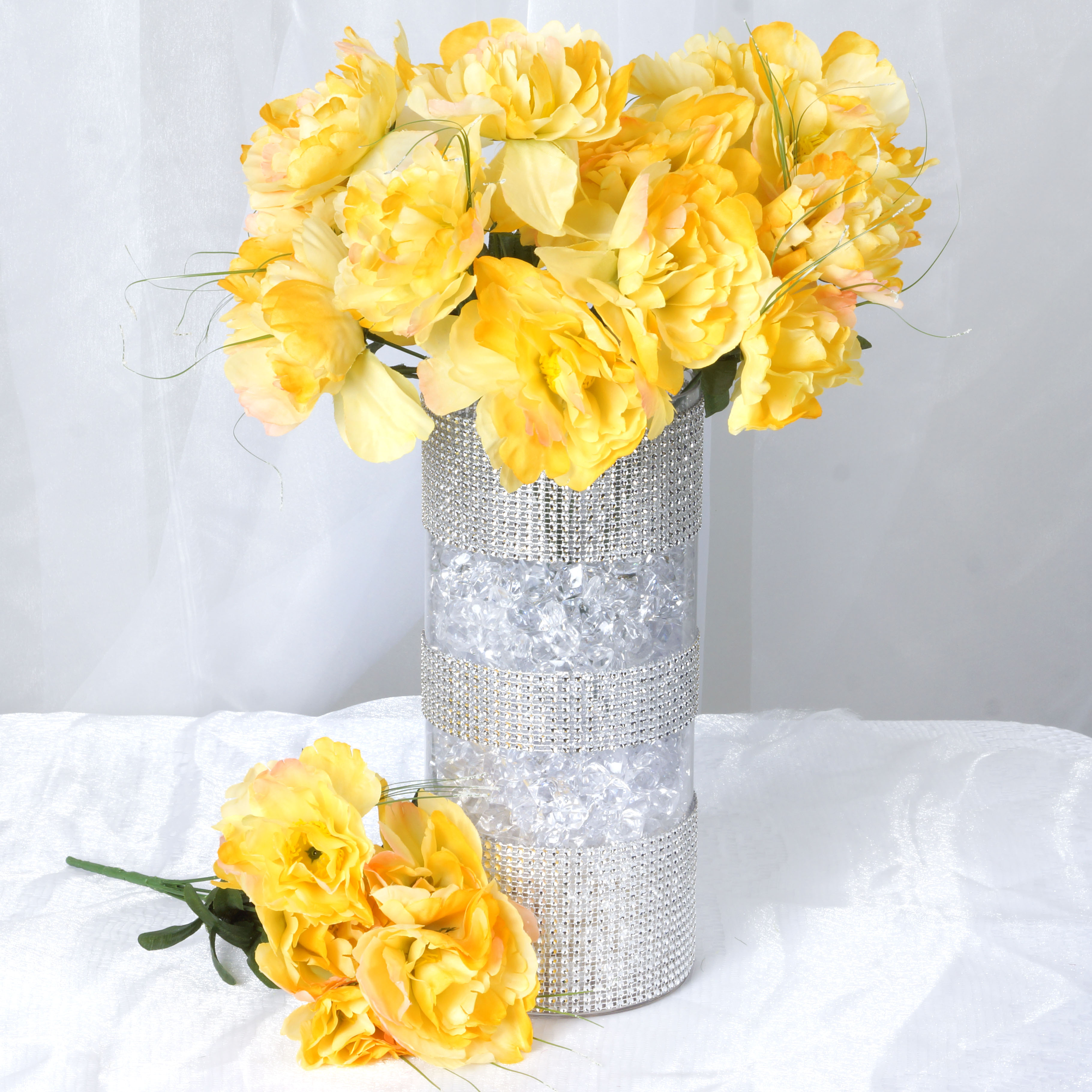 BalsaCircle 60 Silk Peony Flowers - DIY Peonies Home Wedding Party Artificial Bouquets Arrangements Centerpieces