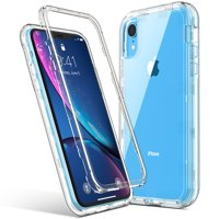 iphoness XR Case, ULAK Stylish Crystal Clear Heavy Duty Hybrid Hard PC Back Cover with Shock Absorption Bumper and Front Frame Anti-Scratch Premium phones Case for iphoness XR 6.1 inch,Crystal Clear