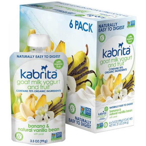 Kabrita Goat Milk Yogurt and Fruit, Banana Vanilla, 3.5 oz (Pack of 6) by Kabrita