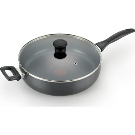 T-fal Basic Nonstick Easy Care 5-Quart Jumbo Cooker, Black