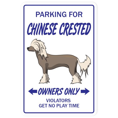 CHINESE CRESTED Decal dog pet parking Decals toy puppy breeder | Indoor/Outdoor | 5