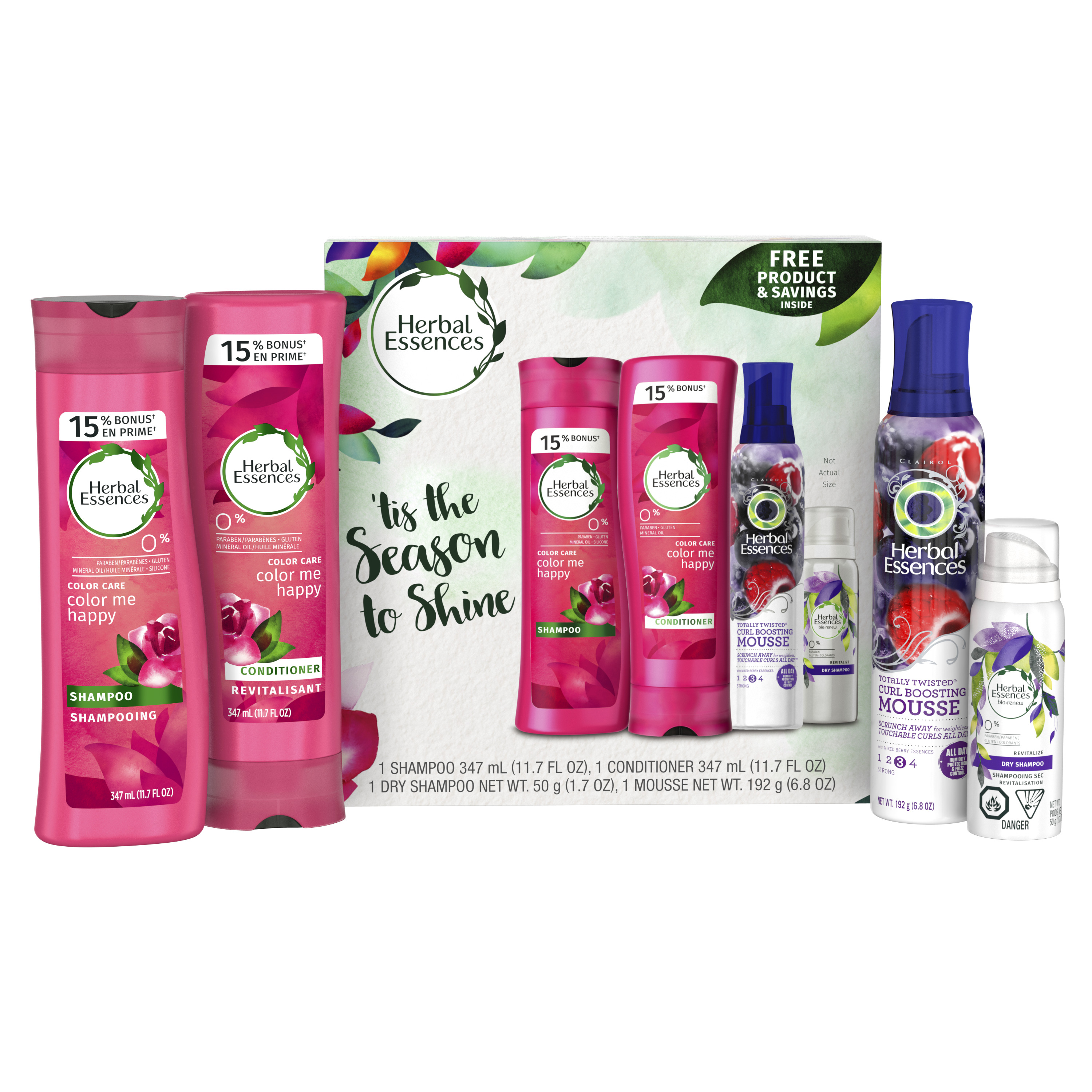 Herbal Essences Color Me Happy Shampoo And Conditioner Holiday Pack