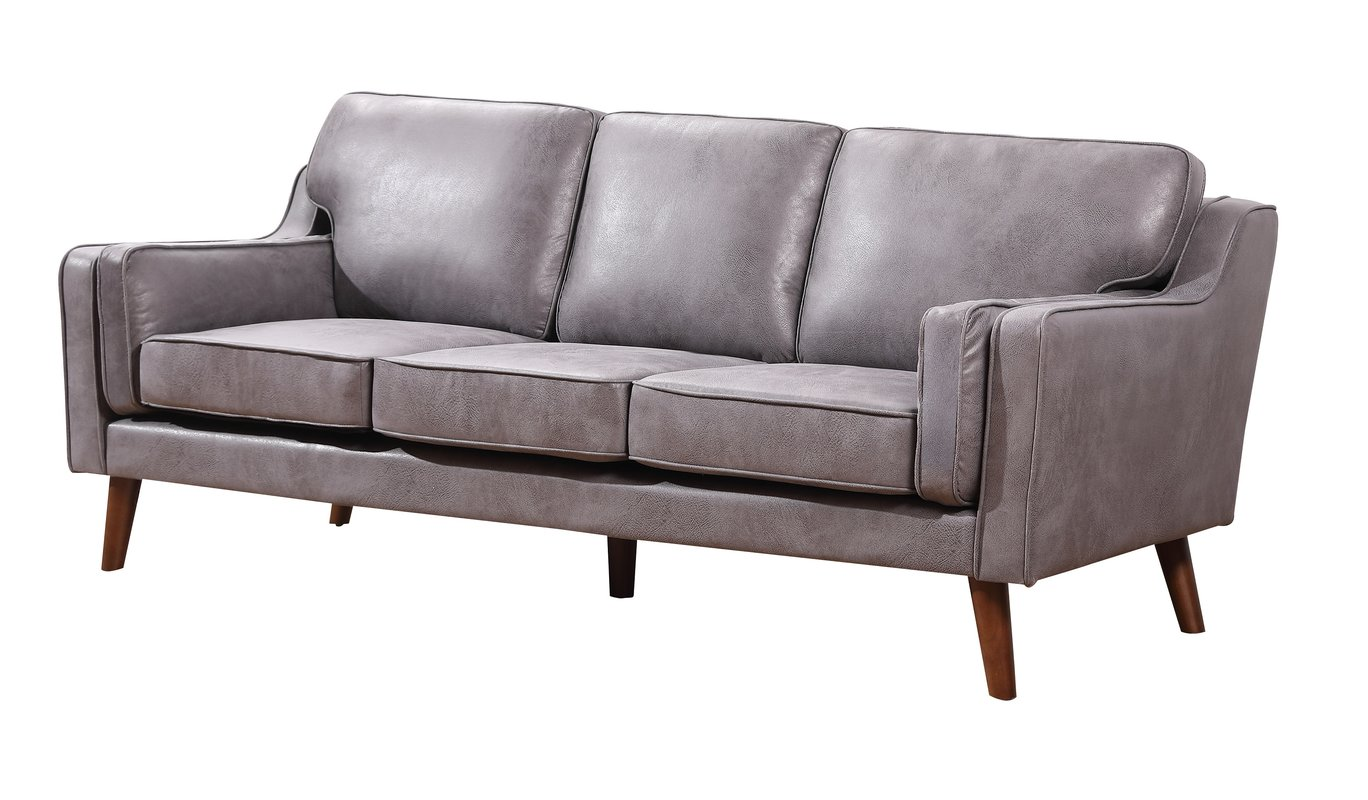 Us pride furniture san francisco modern luxurious faux leather sofa gray walmart com